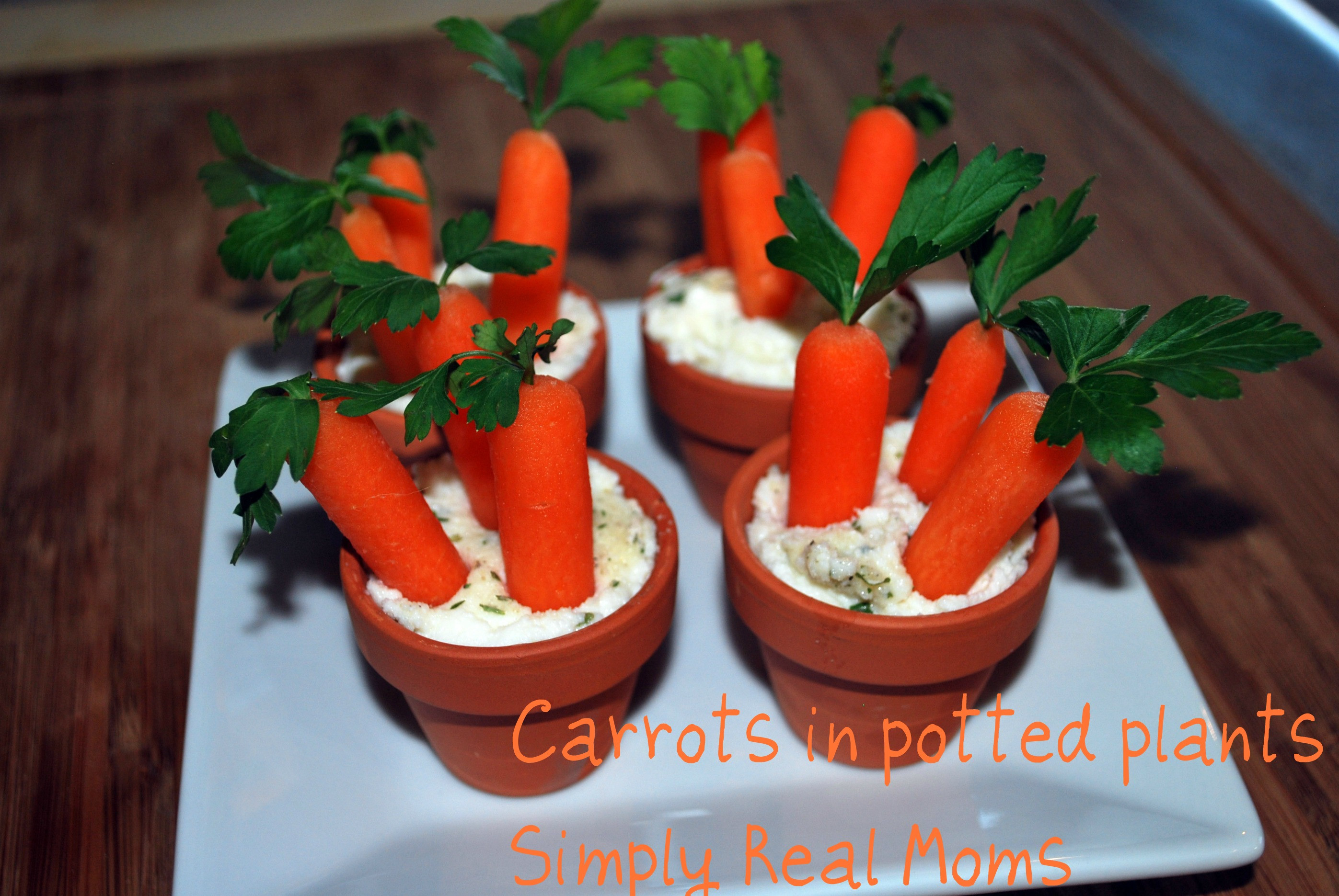 Fun Easter Appetizers  Easter Appetizer for Kids Potted Carrots and Dip