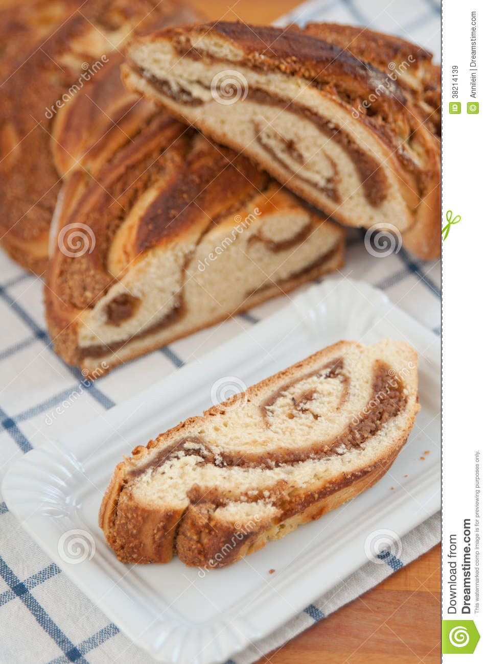 German Easter Bread  Sweet Braided German Easter Bread Stock Image Image