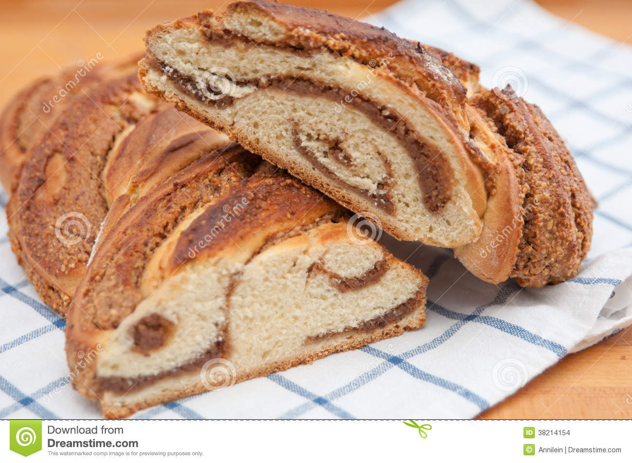 German Easter Bread  Sweet Braided German Easter Bread Stock Image