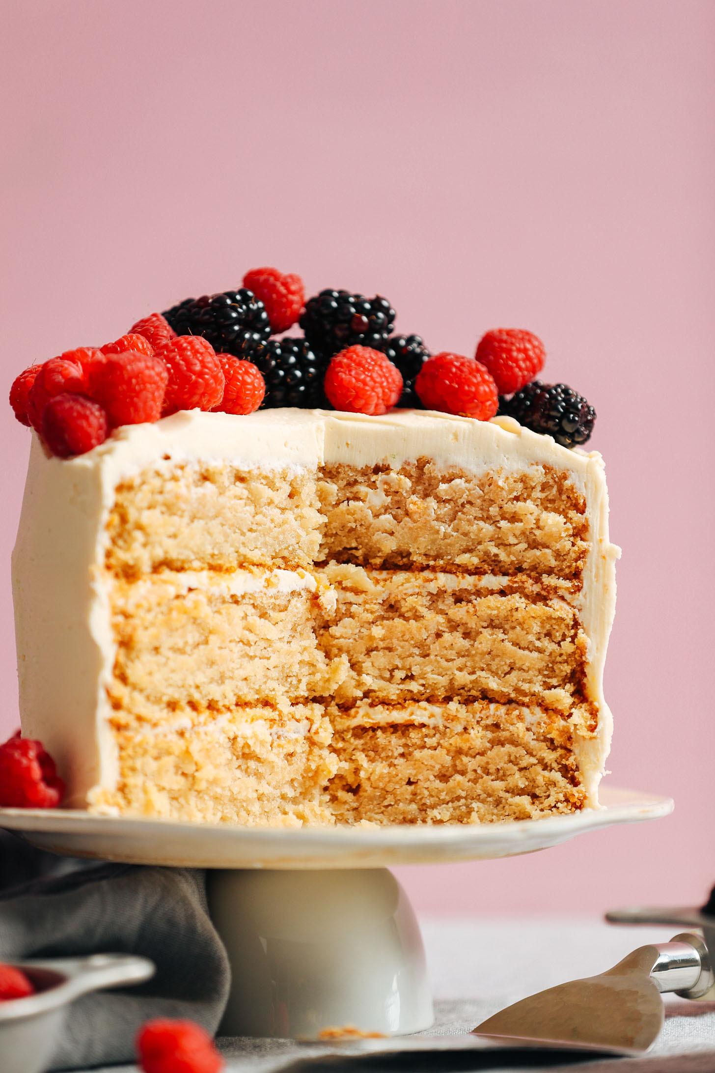 Gluten And Dairy Free Cake Recipes Easy  1 Bowl Vegan Gluten Free Vanilla Cake