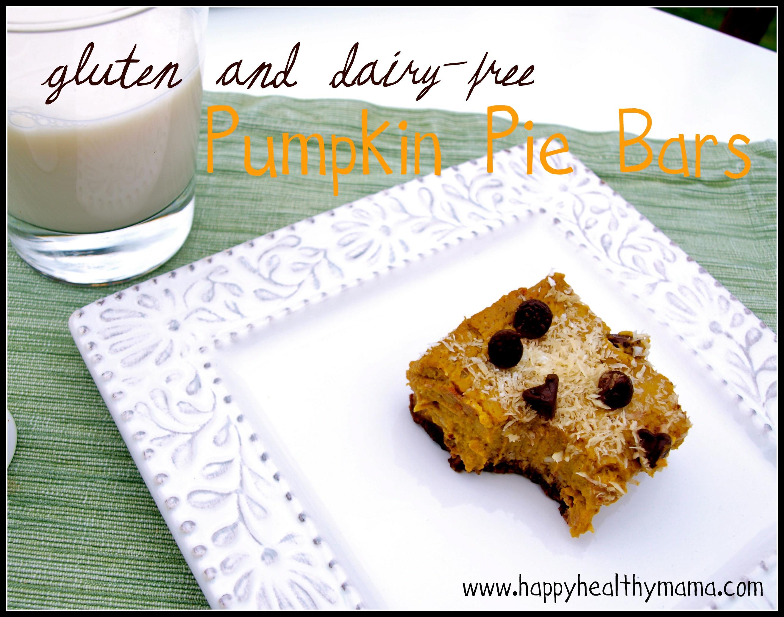 Gluten And Dairy Free Pumpkin Pie  Gluten & dairy free pumpkin pie bars Happy Healthy Mama