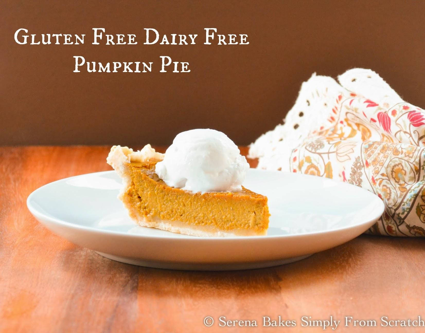 Gluten And Dairy Free Pumpkin Pie  Gluten Free Dairy Free Pumpkin Pie With Coconut Whip Cream