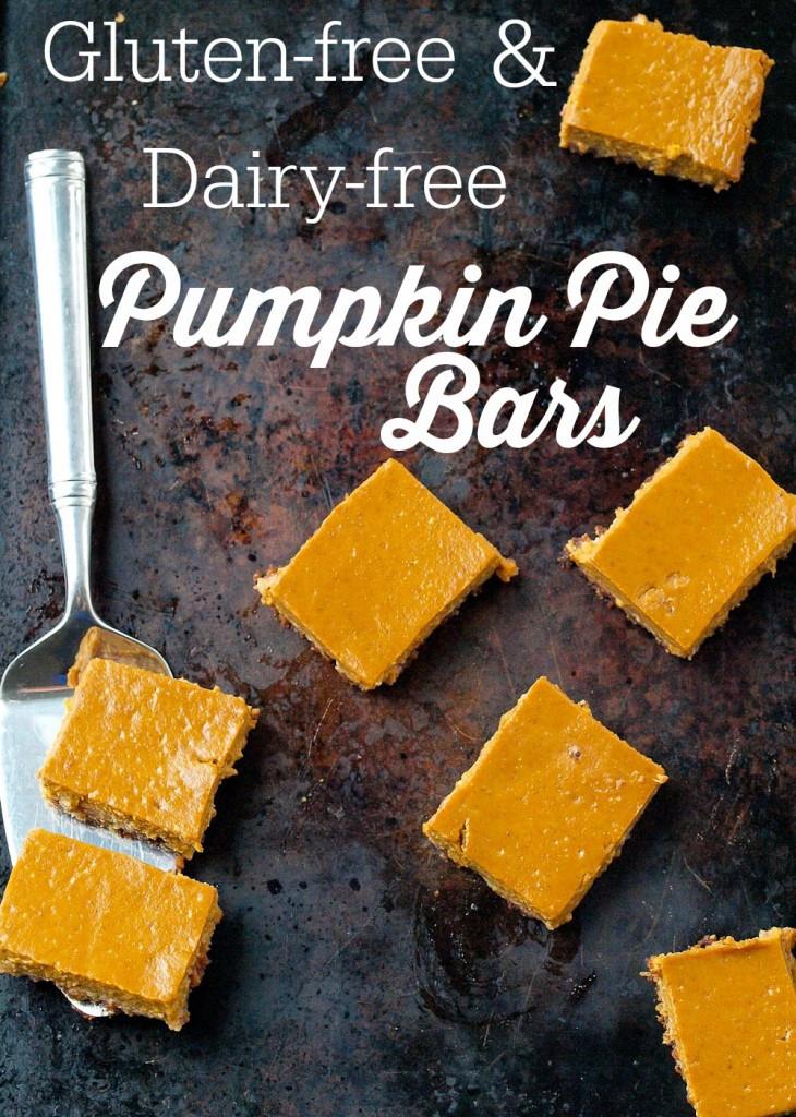 Gluten And Dairy Free Pumpkin Pie  Gluten free and Dairy free Pumpkin Pie Bars Happy