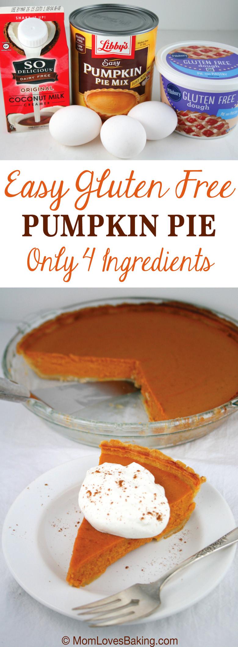 Gluten And Dairy Free Pumpkin Pie  Easy Gluten Free Pumpkin Pie Mom Loves Baking