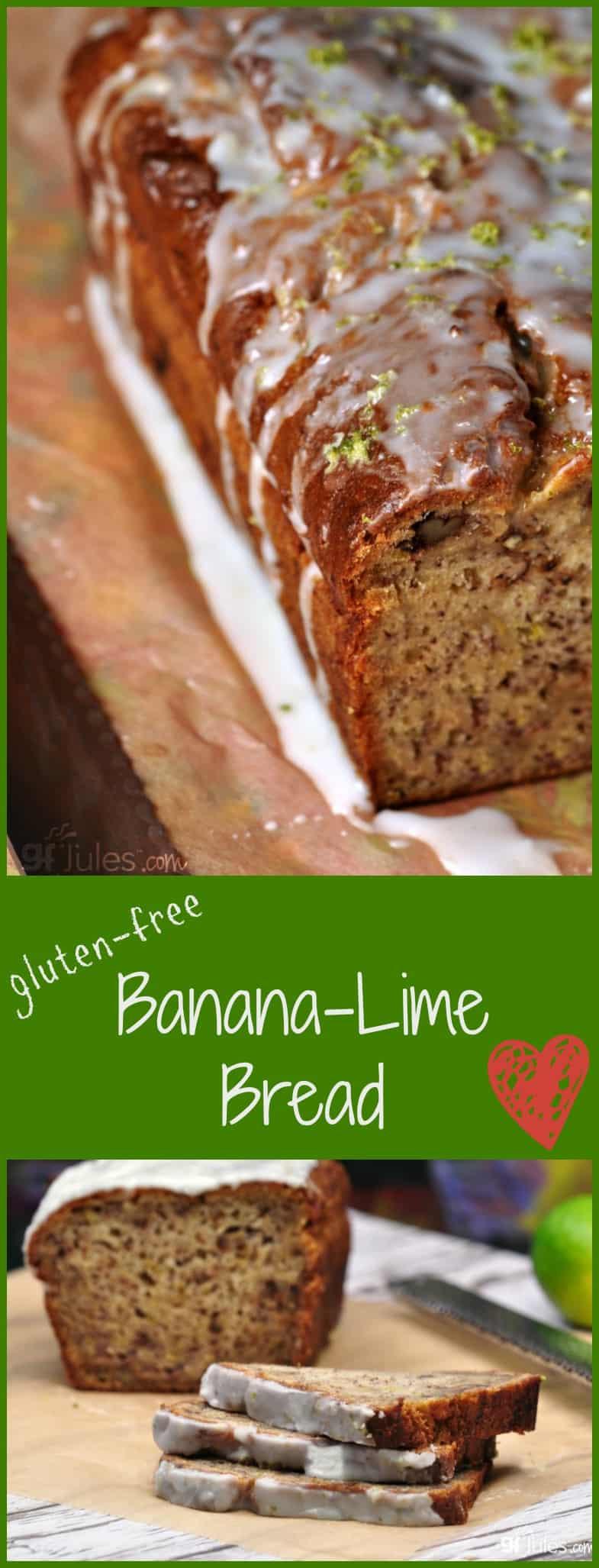 Gluten Dairy Free Banana Bread  Gluten Free Banana Lime Bread Moist & Flavorful gfJules