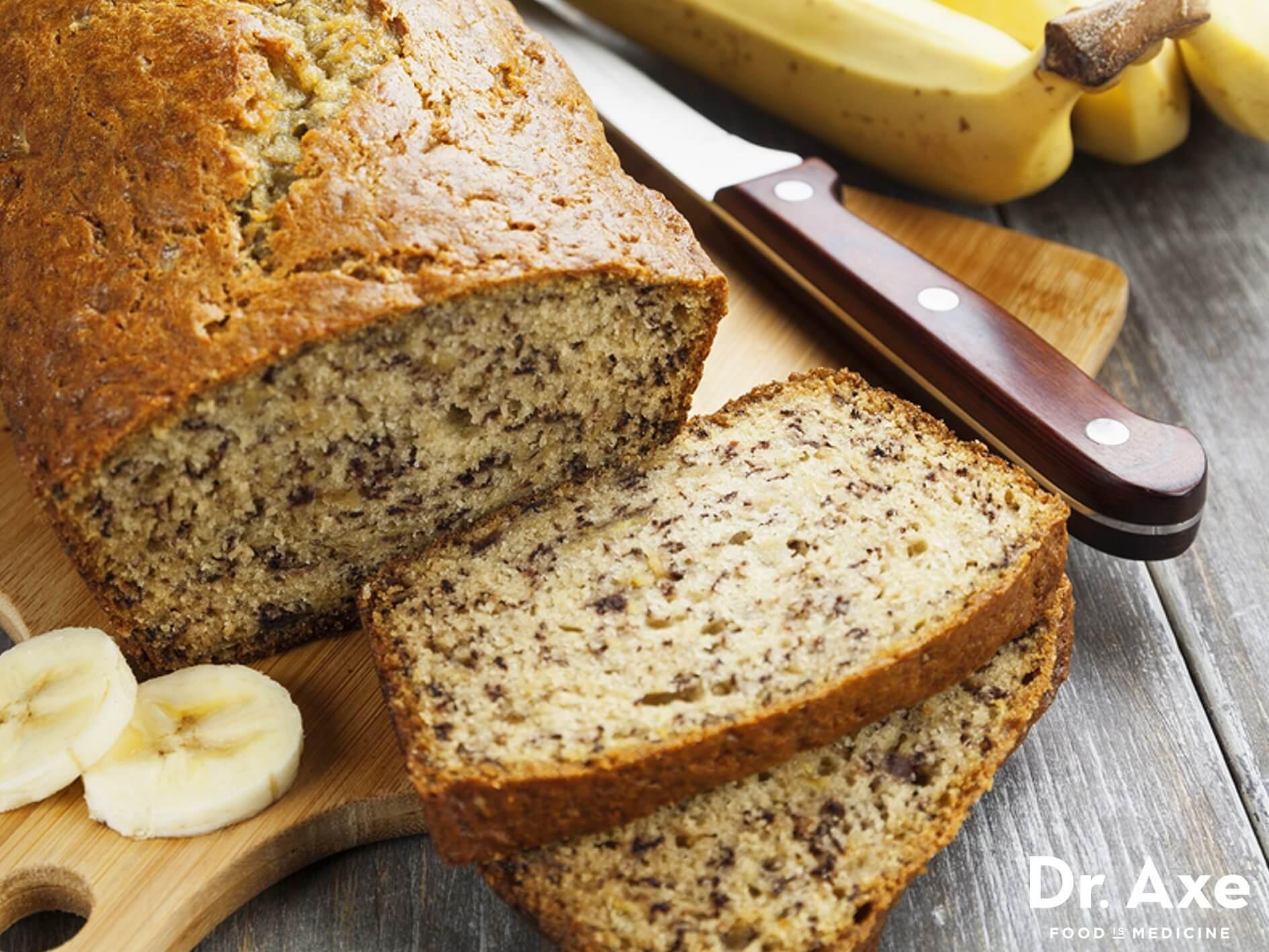 Gluten Dairy Free Banana Bread  Gluten Free Banana Bread Recipe DrAxe