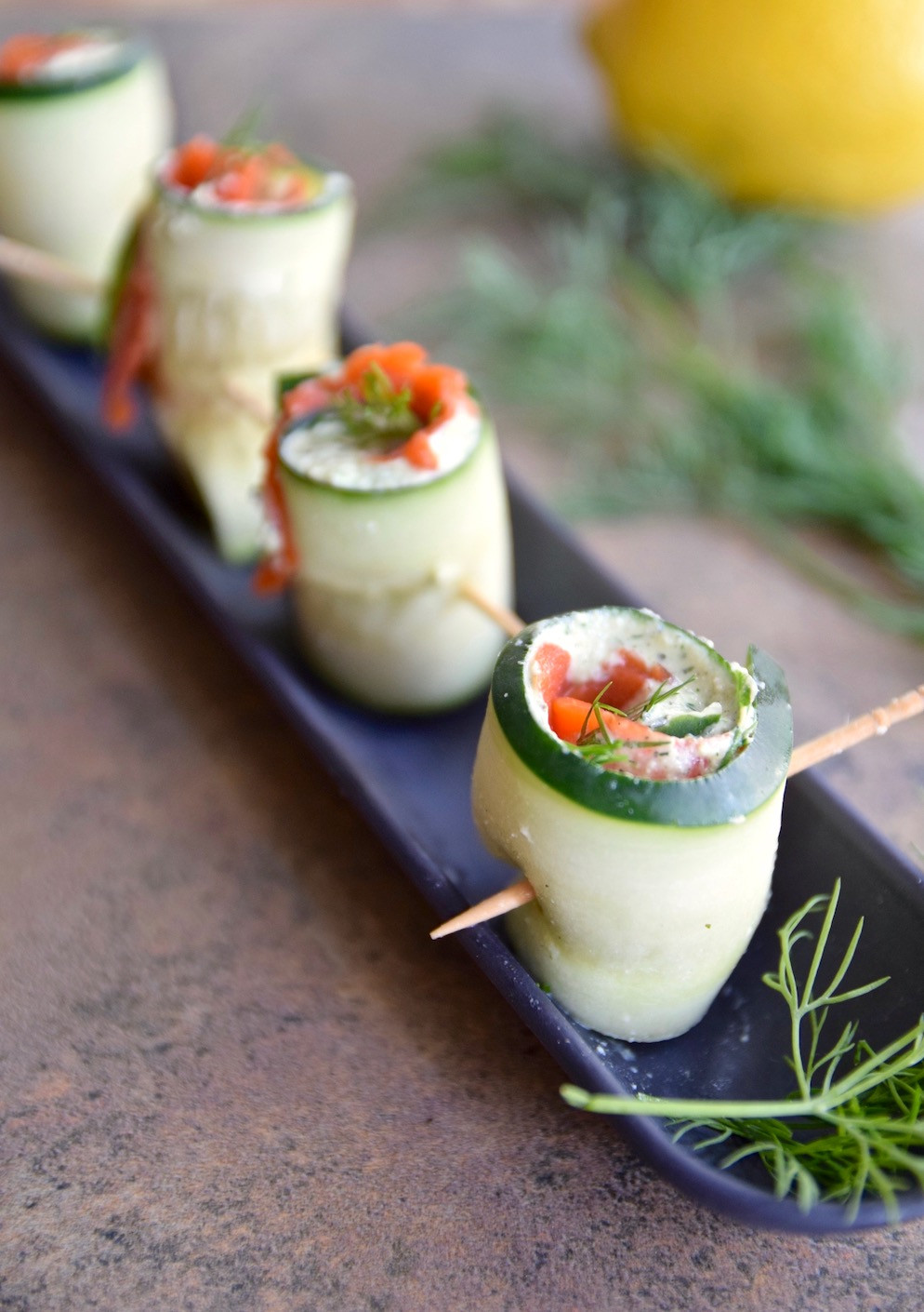 Gluten Free And Dairy Free Appetizers  Salmon Cucumber Roll Ups Gluten Free Dairy Free