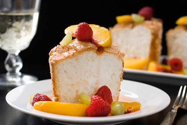 Gluten Free Angel Food Cake Mix  Gluten Free Angel Food Cake with Peach Sangria Sauce Recipe