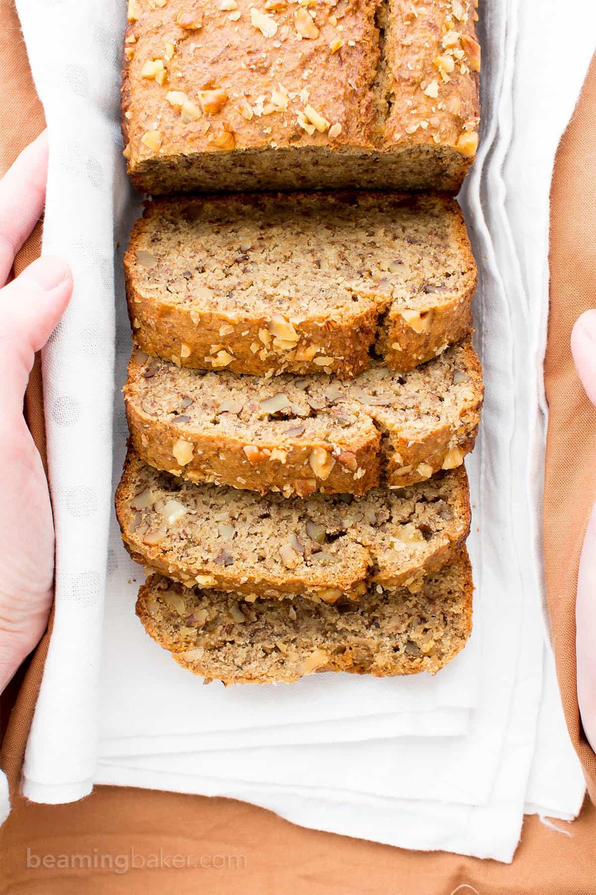 Gluten Free Banana Bread With Almond Flour  e Bowl Vegan Gluten Free Banana Nut Bread V GF Oat