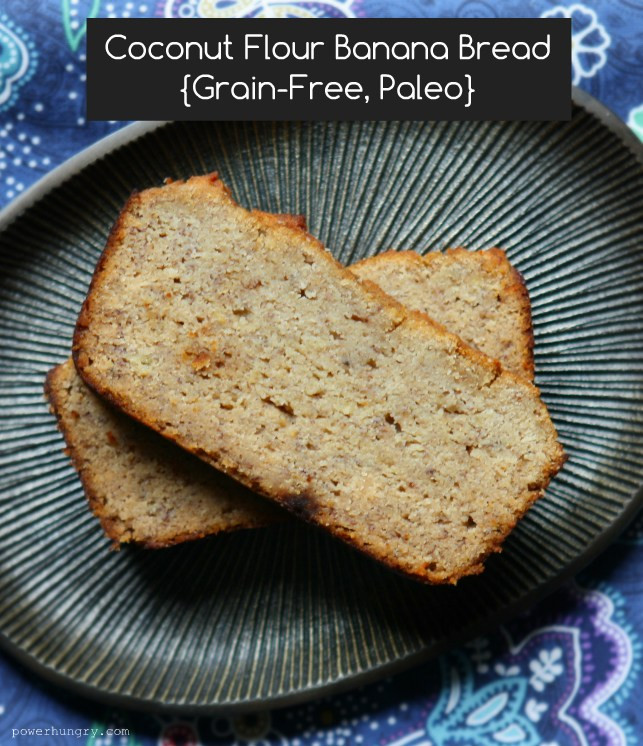 Gluten Free Banana Bread With Coconut Flour  Coconut Flour Banana Bread Gluten free Grain free Paleo