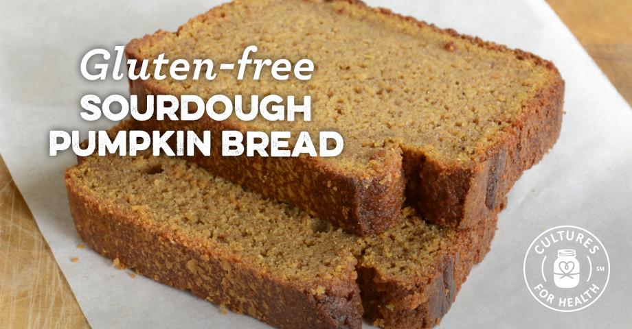 Gluten Free Bread Mix Recipe  Gluten free Sourdough Pumpkin Bread Recipe Cultures for