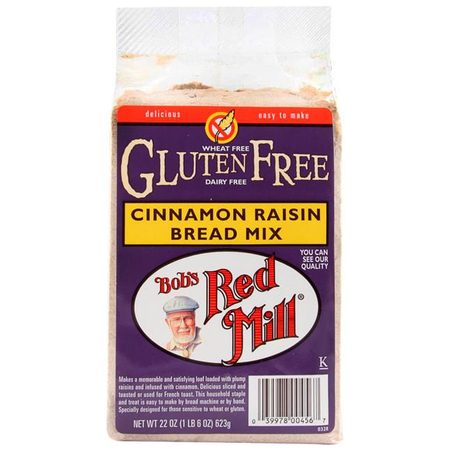 Gluten Free Bread Mix  Bob s Red Mill Gluten Free Cinnamon Raisin Bread Mix 22 oz