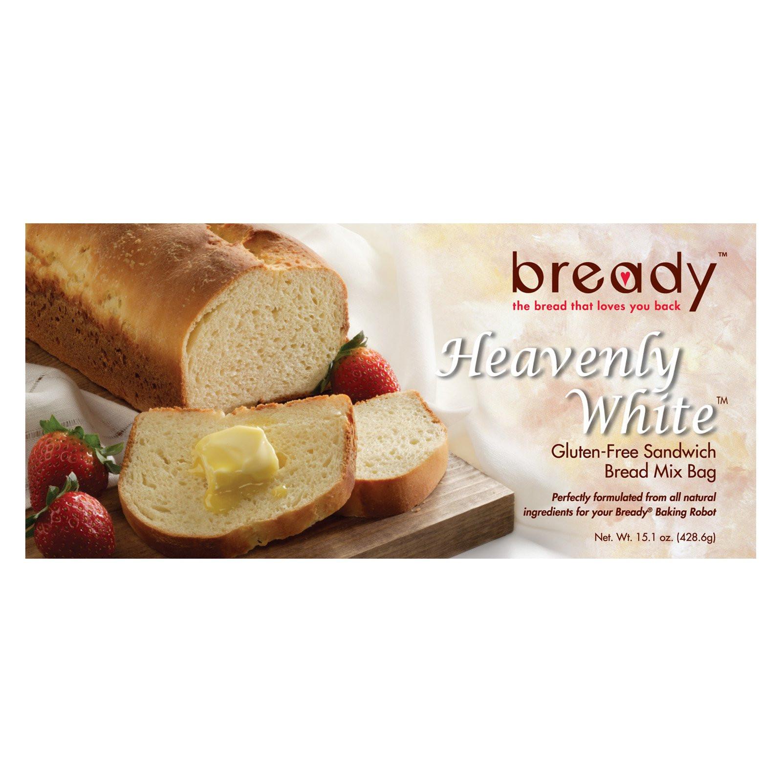 Gluten Free Bread Mix  Bready Heavenly White Gluten Free Sandwich Bread Mix at