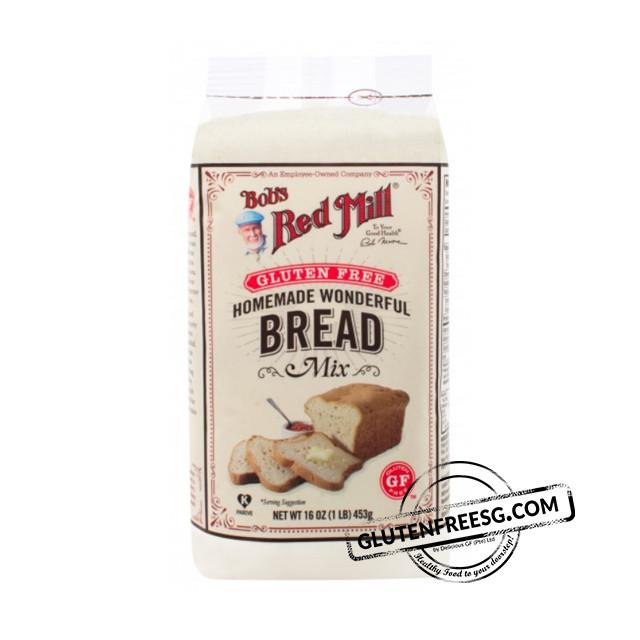 Gluten Free Bread Mix  Bob s Red Mill GF Homemade Wonderful Bread Mix Gluten