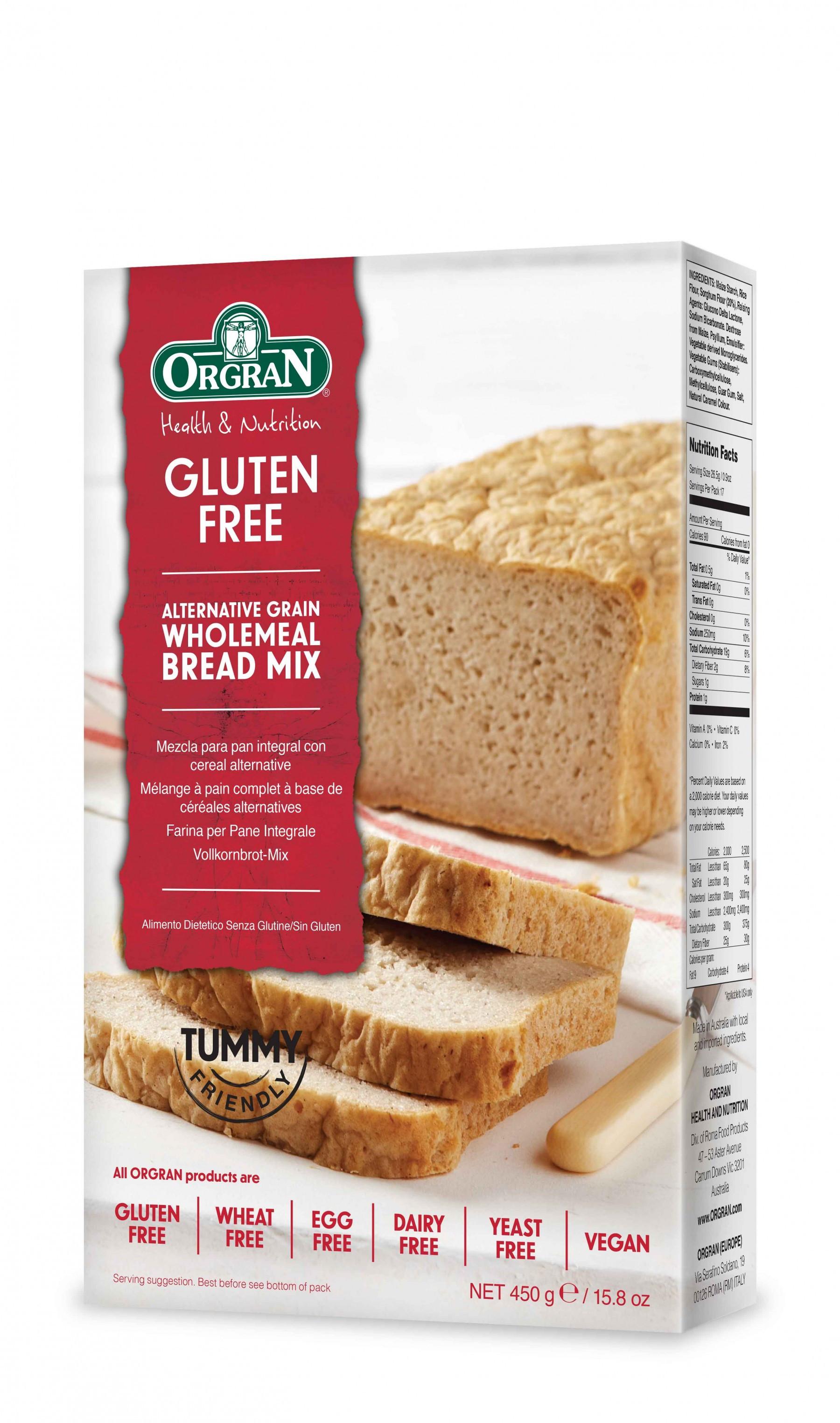 Gluten Free Bread Mix  Orgran Gluten Free Wholemeal Bread Mix 450g