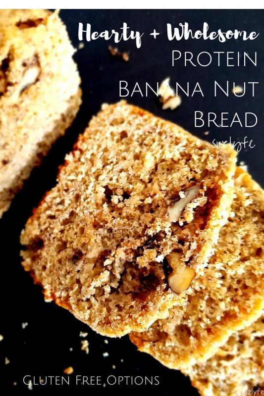 Gluten Free Bread Options  Suzlyfe Hearty High Protein Banana Nut Bread Gluten