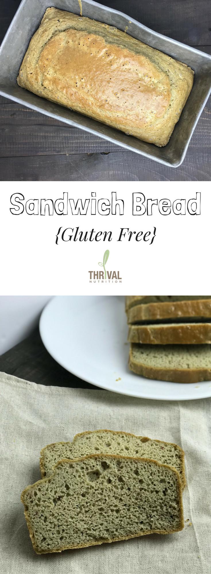 Gluten Free Bread Options  Gluten Free Sandwich Bread Thrival Nutrition