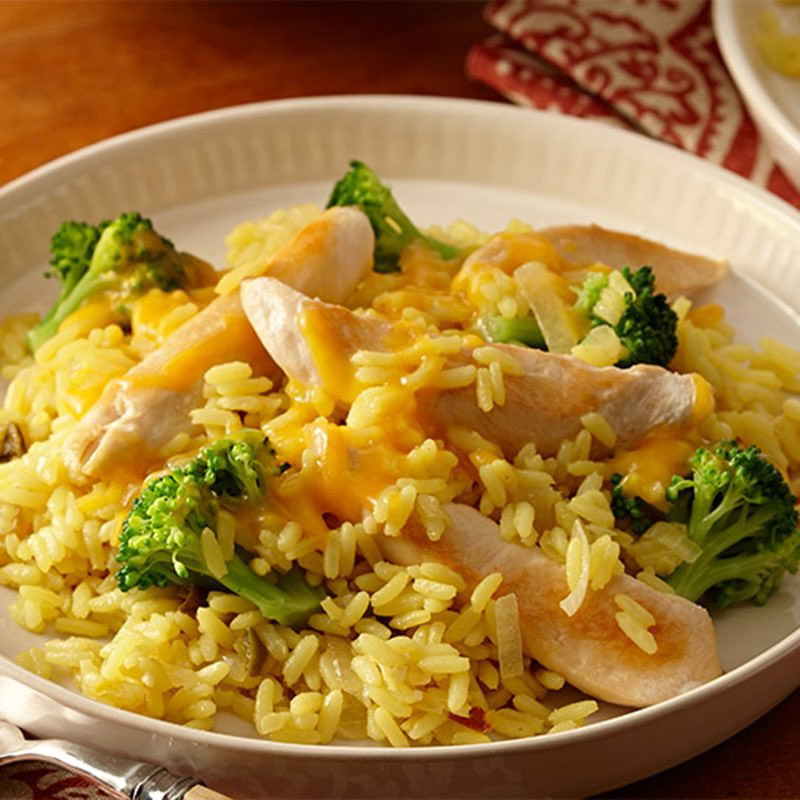 Gluten Free Broccoli Rice Casserole  Gluten Free Chicken and Yellow Rice with Broccoli and