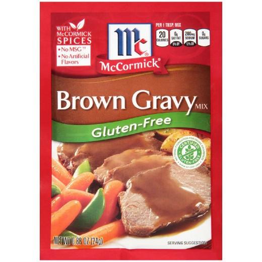 Gluten Free Brown Gravy  McCormick Gluten Free Brown Gravy 88 oz Tar