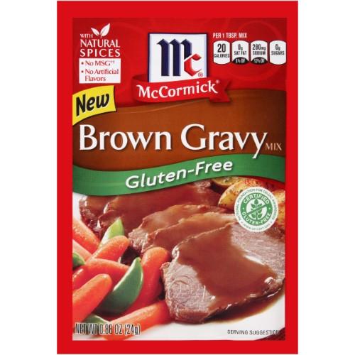 Gluten Free Brown Gravy  McCormick Gluten Free Brown Gravy Mix 0 88 Oz Pack of 12