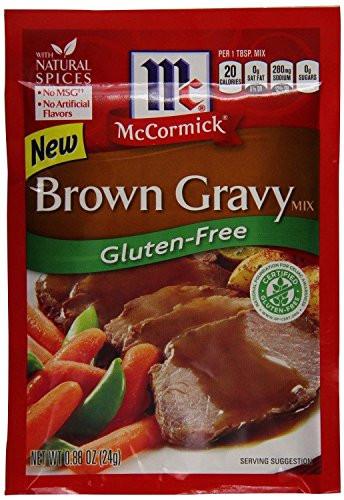 Gluten Free Brown Gravy  McCormick Gluten Free Brown Gravy Mix 0 88 oz packet