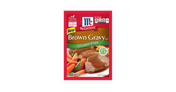 Gluten Free Brown Gravy  Our NEW McCormick Gluten Free Brown Gravy is a blend of