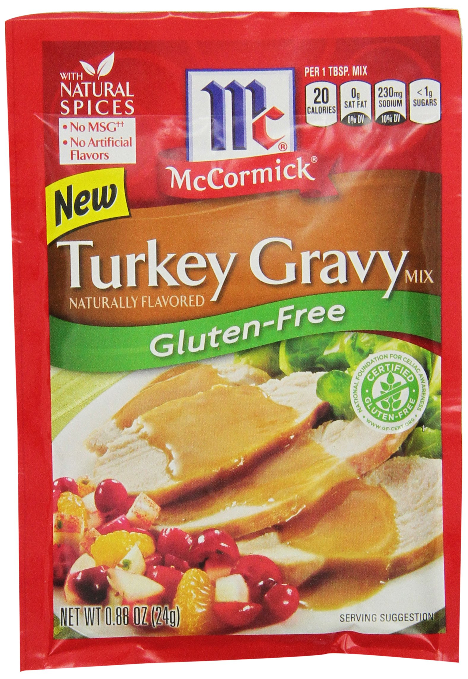 Gluten Free Brown Gravy  Amazon McCormick Gluten Free Brown Gravy Mix 0 88