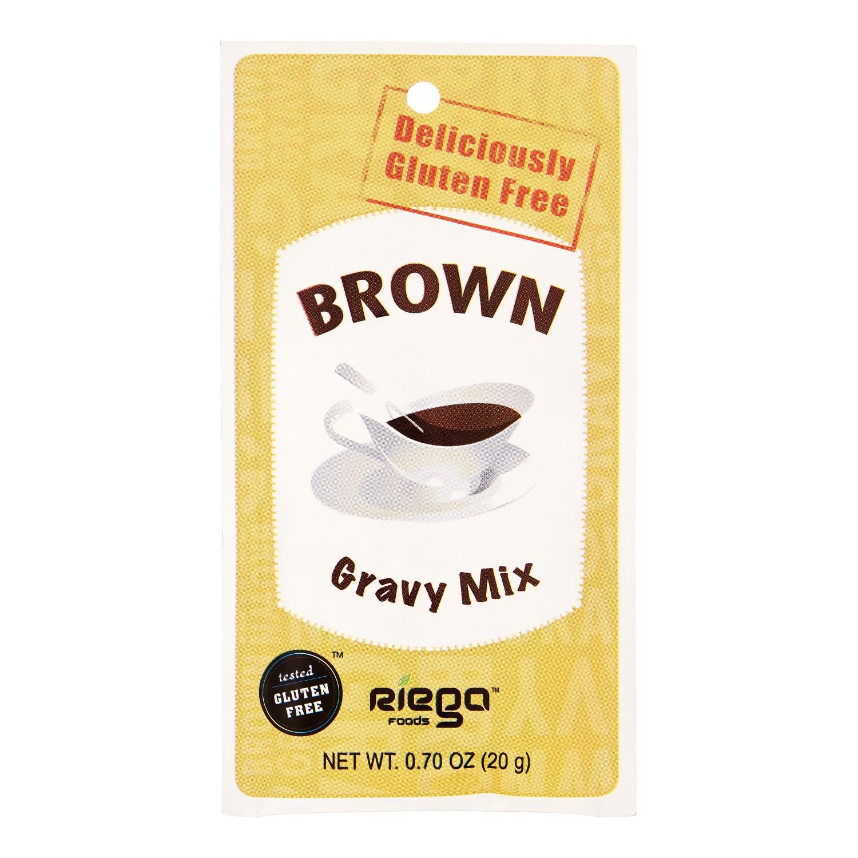 Gluten Free Brown Gravy  Riega Brown Gravy Mix Gluten Free 0 7 Oz
