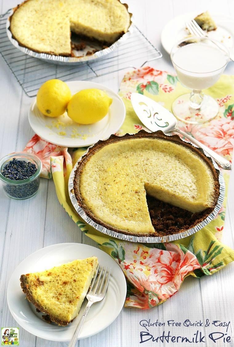 Gluten Free Buttermilk Recipes  Gluten Free Quick & Easy Buttermilk Pie
