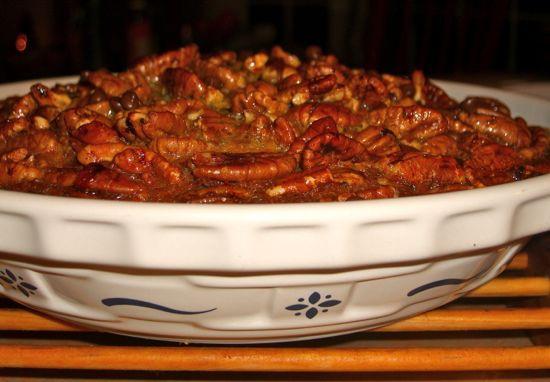 Gluten Free Chocolate Pecan Pie  Recipe for Crustless Gluten Free Pecan and Chocolate Pie
