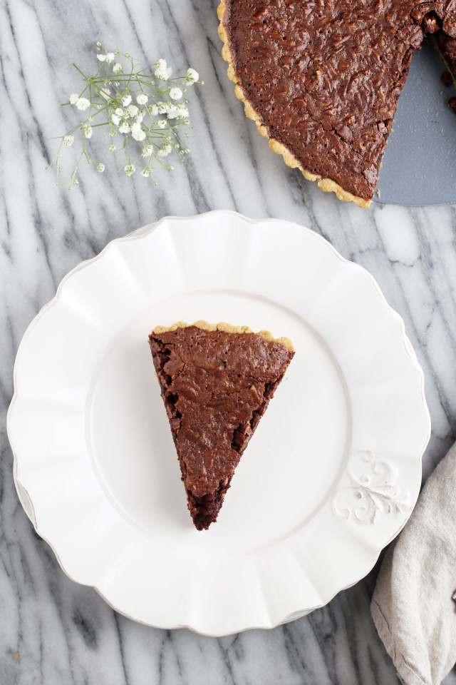 Gluten Free Chocolate Pecan Pie  Gluten Free Chocolate Bourbon Pecan Pie Jessi s Kitchen