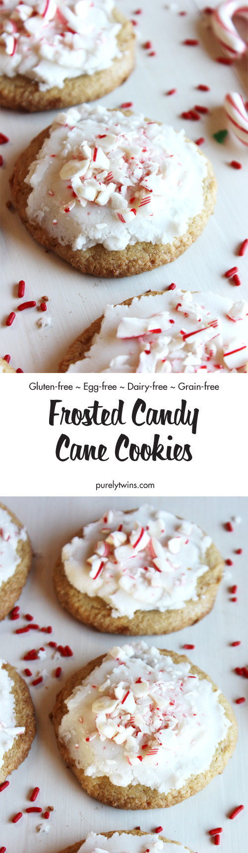 Gluten Free Christmas Candy  Flourless frosted peppermint cookies