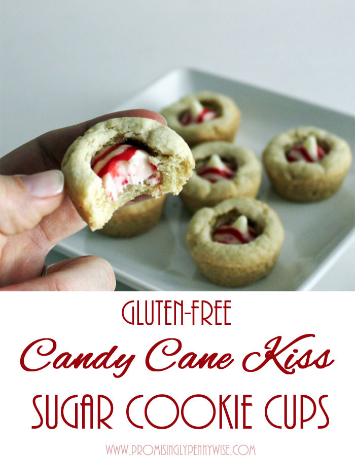 Gluten Free Christmas Candy  Gluten Free Candy Cane Kiss Sugar Cookie Cups My