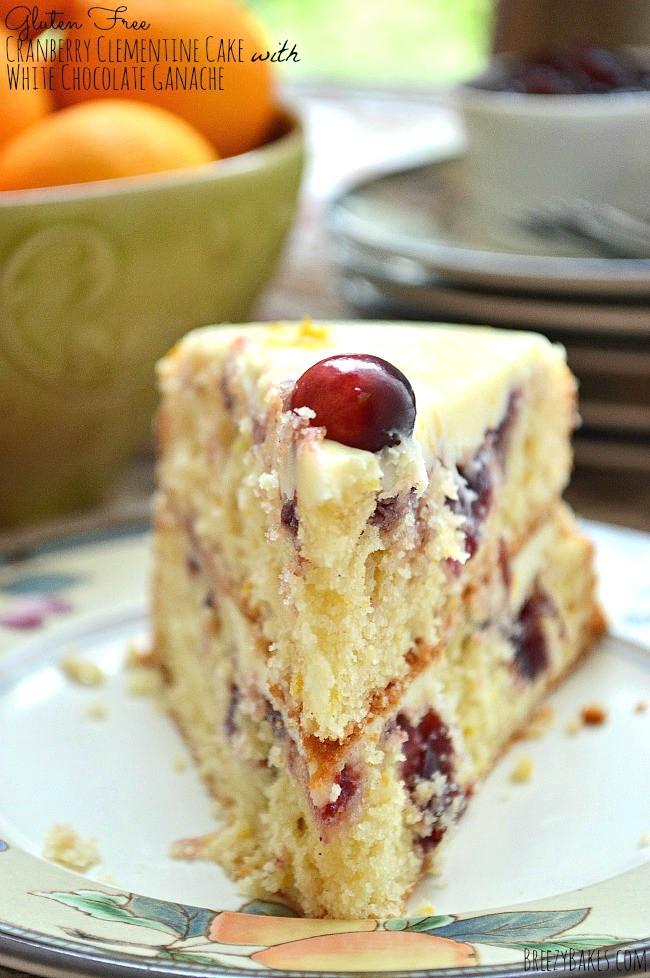 Gluten Free Christmas Desserts  Gluten Free Cranberry Clementine Cake with White Chocolate