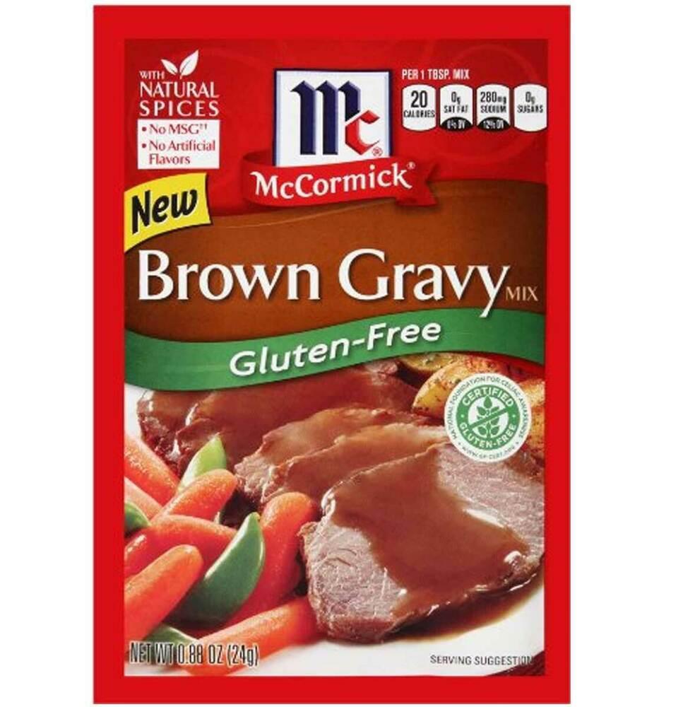 Gluten Free Country Gravy  McCormick Brown Gravy Mix Gluten Free