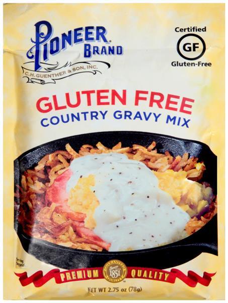Gluten Free Country Gravy  Pioneer Brand Gluten Free Country Gravy Mix