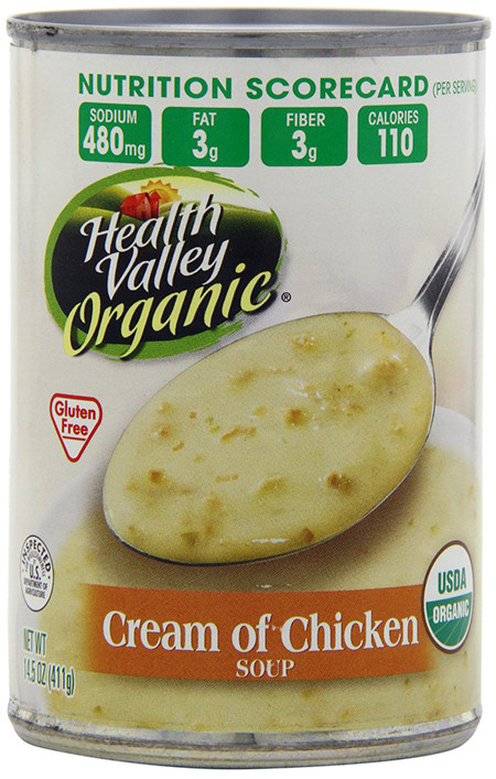 Gluten Free Cream Of Chicken Soup Brands  Health Valley Gluten free Cream of Chicken Soup