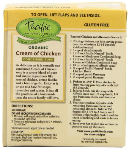 Gluten Free Cream Of Chicken Soup Brands  Pacific Natural Foods Organic Cream Chicken Condensed