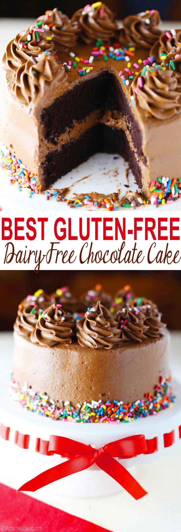 Gluten Free Dairy Free Birthday Cake  Best Gluten Free Dairy Free Chocolate Cake Mom Loves Baking