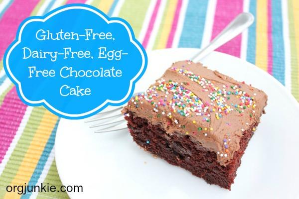 Gluten Free Dairy Free Cake Recipe  Gluten Dairy & Egg Free Chocolate Cake Frosting Recipe