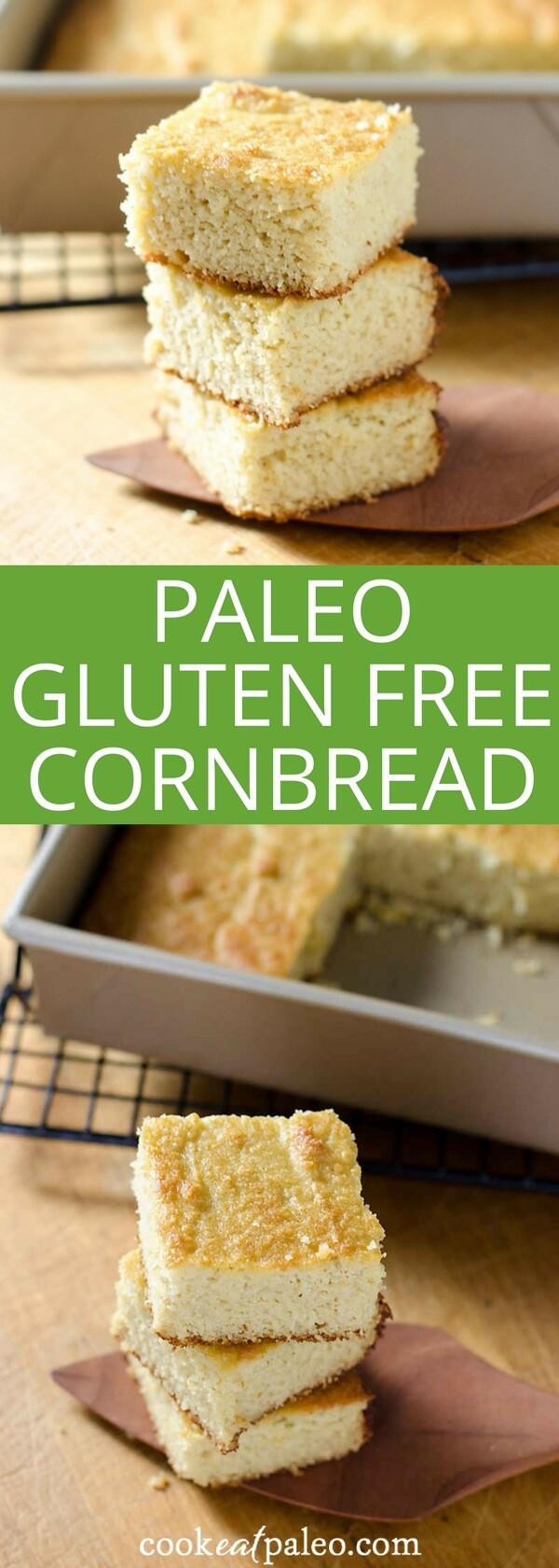 Gluten Free Dairy Free Cornbread Recipe  Paleo Gluten Free Cornbread Recipe