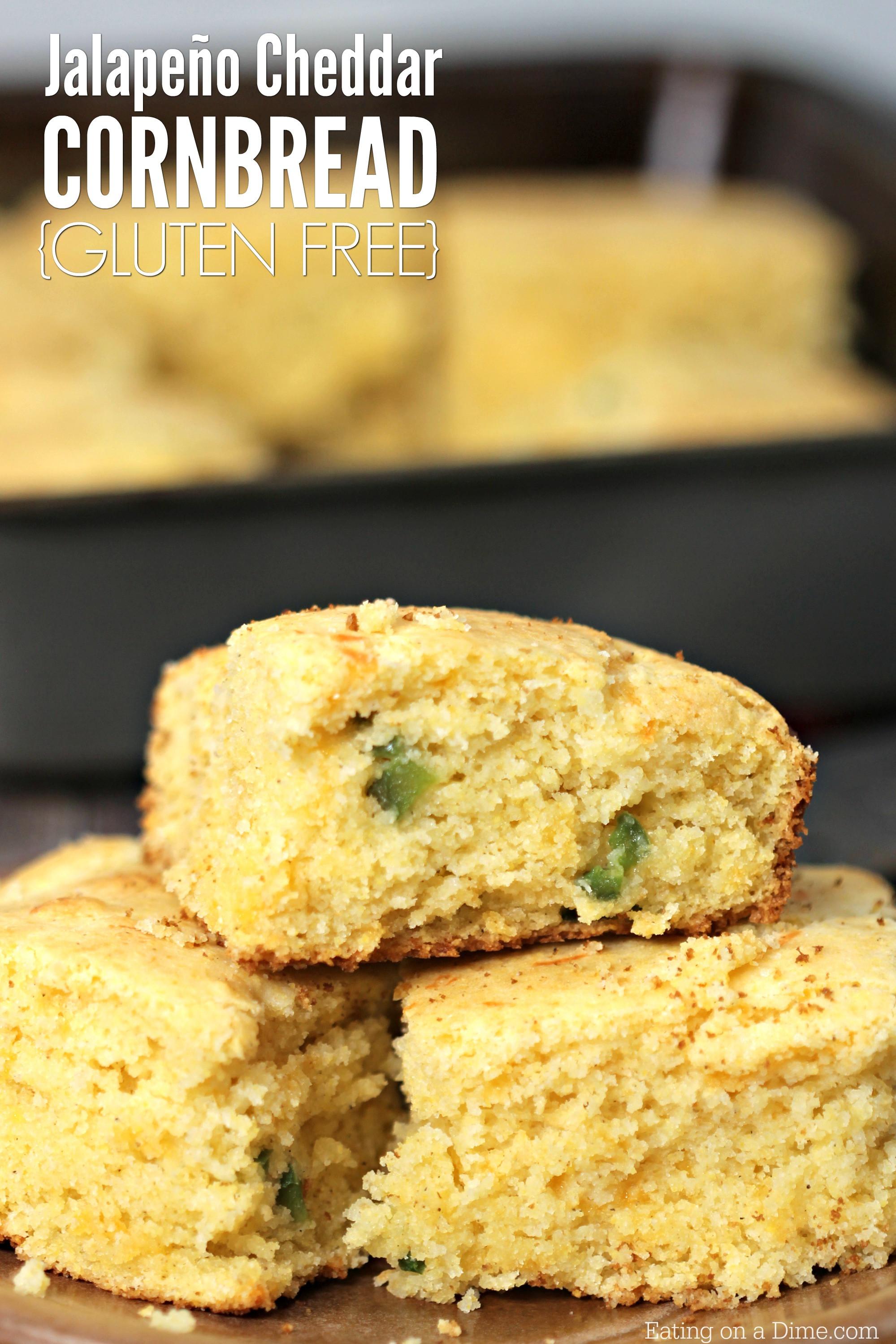 Gluten Free Dairy Free Cornbread  Gluten Free Jalapeno Cheddar Cornbread Recipe Quick and