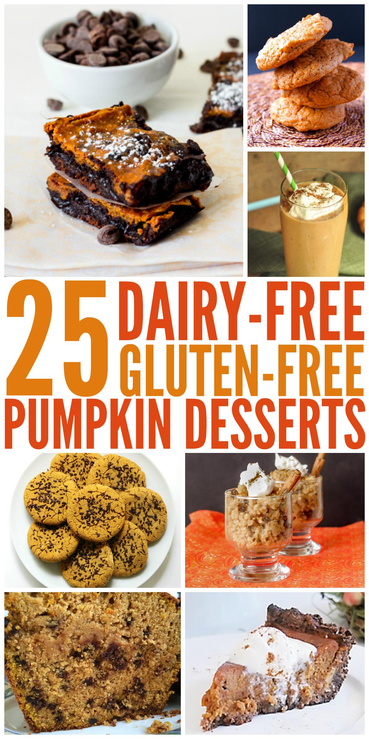 Gluten Free Dairy Free Desserts  25 Dairy Free Gluten Free Pumpkin Desserts My DairyFree