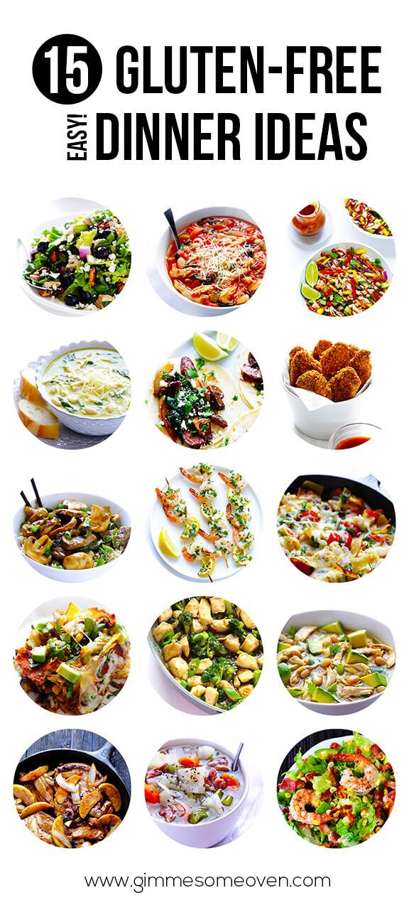 Gluten Free Dairy Free Dinner Recipes  15 Gluten Free Easy Dinner Ideas