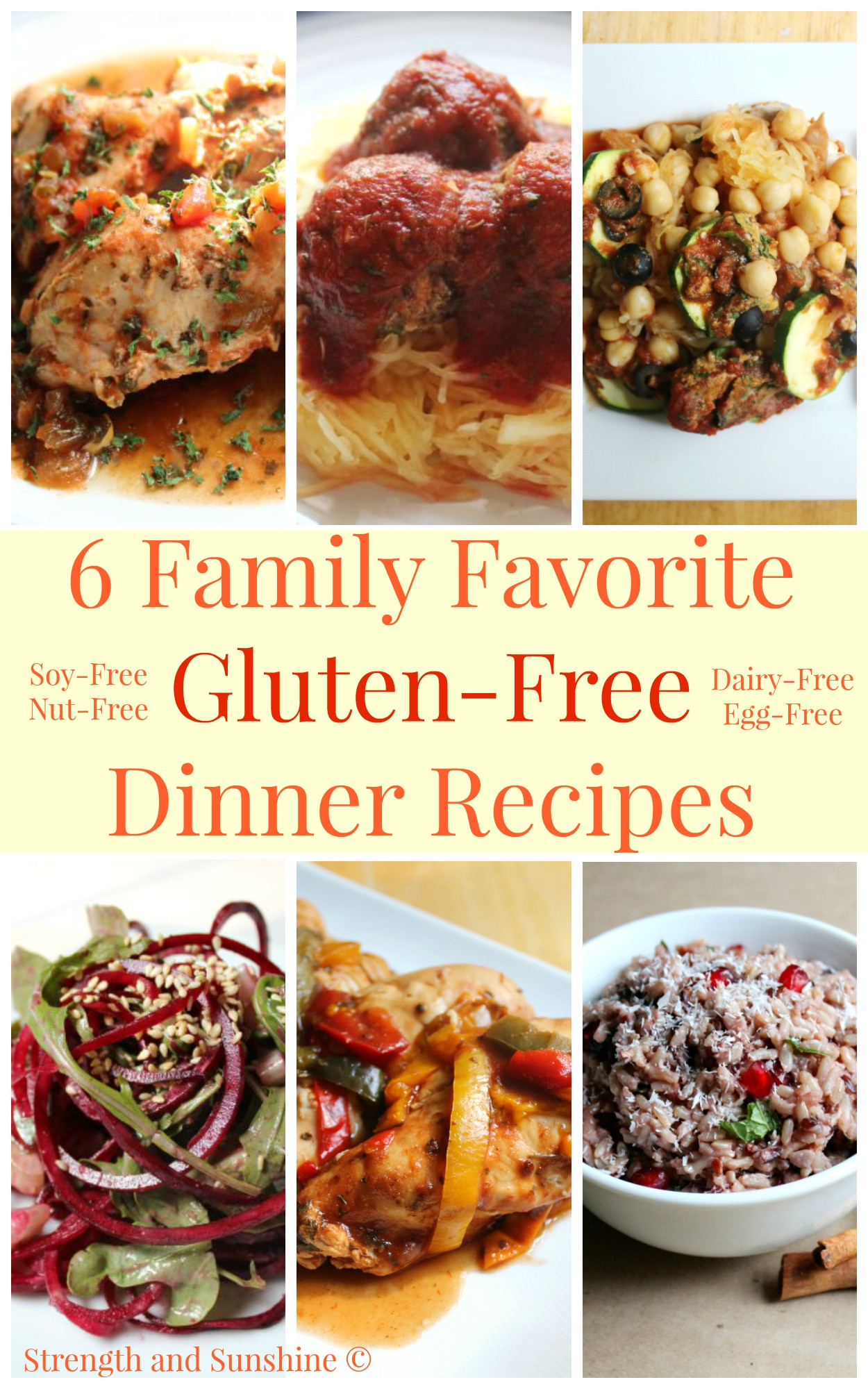 Gluten Free Dairy Free Dinner Recipes  6 Family Favorite Gluten Free Dinner Recipes