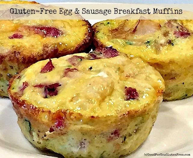 Gluten Free Dairy Free Egg Free Recipes Breakfast  Gluten Free Egg & Sausage Muffins Recipe