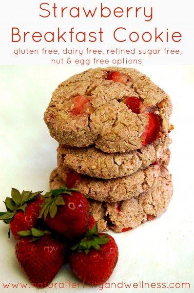 Gluten Free Dairy Free Egg Free Recipes Breakfast  Strawberry Breakfast Cookie Refined Sugar Free Gluten