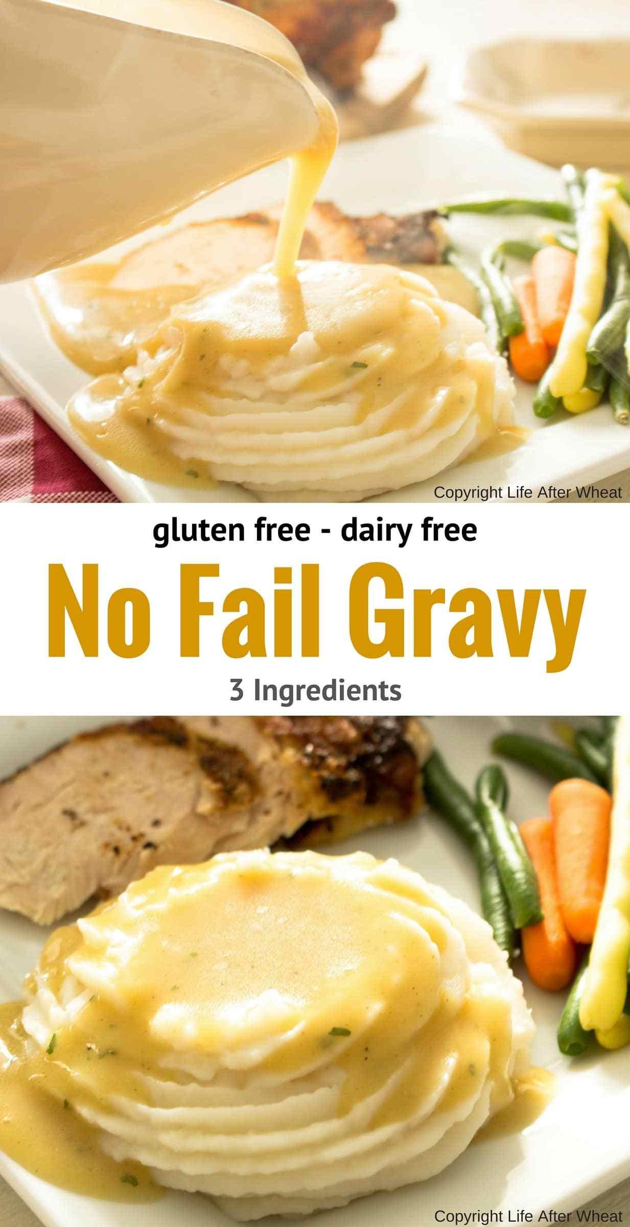 Gluten Free Dairy Free Gravy  Gluten Free Gravy Recipe 3 ingre nts & Dairy Free