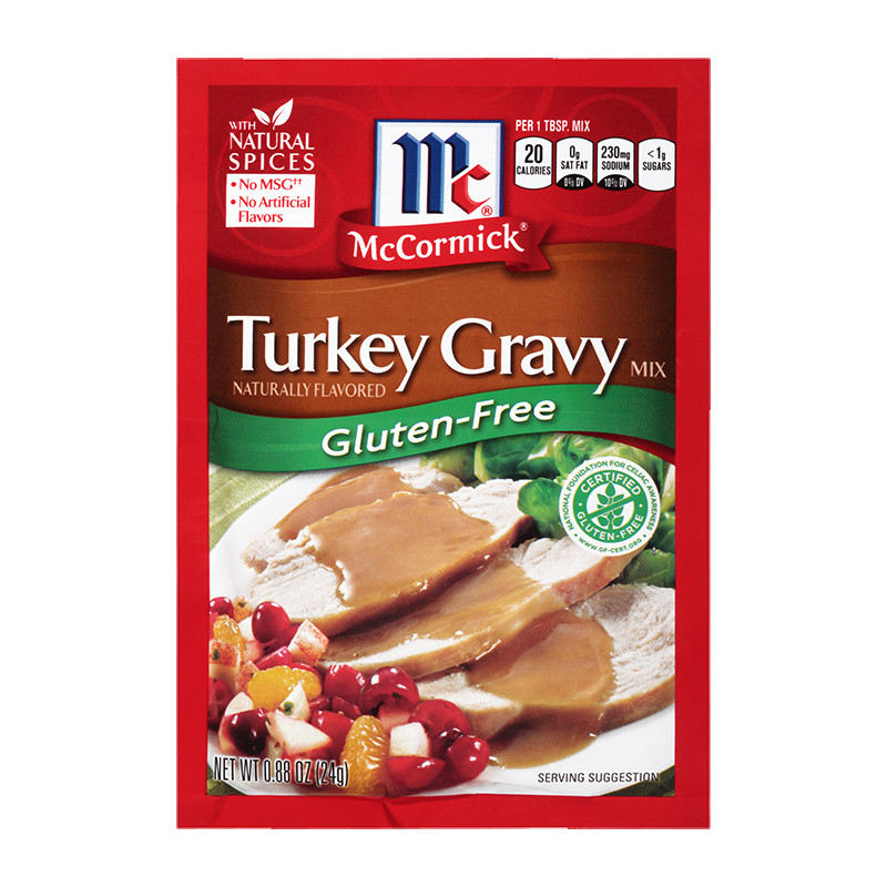 Gluten Free Dairy Free Gravy  McCormick Gluten Free Turkey Gravy Mix