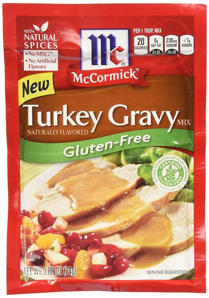 Gluten Free Dairy Free Gravy  McCormick Turkey Gravy Mix Gluten Free 0 88 OZ